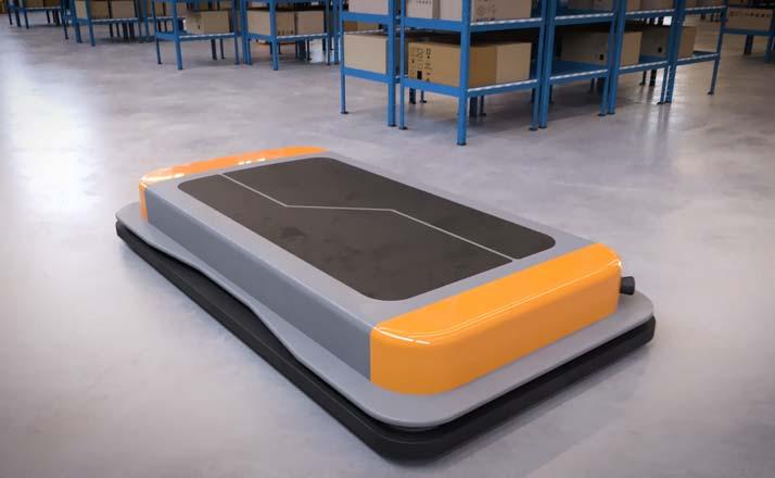 AGVs und AMRs für den automatisierten Warenfluss in Lagerhallen, Paketverteilzentren und der Produktion